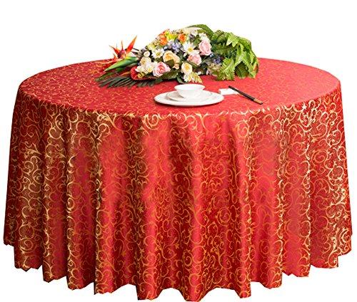 Black Temptation Hochzeiten Bankette Hotels Tischtennis Zubehör Runde Tischdecken 220 * 220CM (Rot)