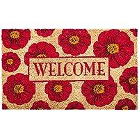 Evergreen floreale Welcome tappetino in fibra di cocco, 71,1x 40,6cm