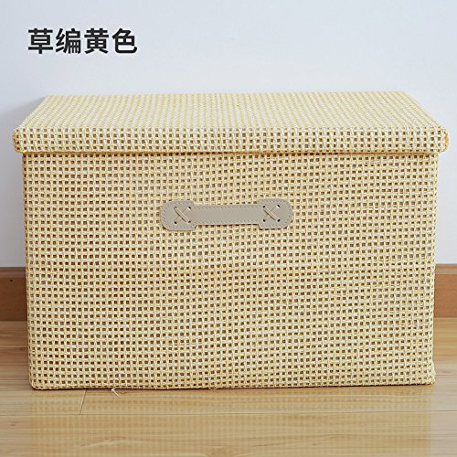 Caja amarilla para organización en casa