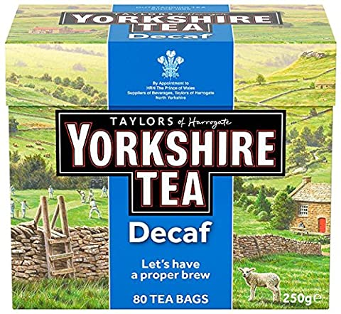 Yorkshire Tea Decaffeinated Tea Bags 250 g (Pack of