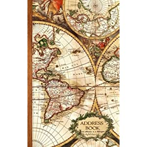 Antique Map Gifts / Presents Small Telephone and Address Book (Address Books – Travel & World Cultures)