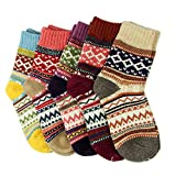 5 Pairs Women Ladies Thick Winter Socks Warm Wool Nordic Novelty Sock UK