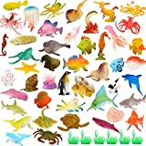 YeoNational Toys Animales de Juguete, Surtido DE 52 Mini Figuras de...