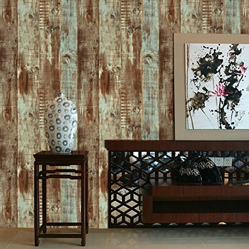 Abnehmbare Wandtattoo Board Textur Coffee Shop Bekleidungsgeschäft Restaurant Tapete Holzmaserung