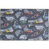 Kinderteppich Disney CARS Teppich Straßen Spielteppich grau 3 verschiedene Größen, Größe:ca. 122 x 183 cm