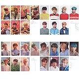 Loheag Clinor 28 Stück BTS Bangtan Boys Mini Fotokarten Postkarte Lomo Karten | Jungkook, Jimin, V, Suga, Jin, J-Hope, Rap Monster (H05)
