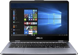 Asus VivoBook Flip 14 TP410UA-EC405T 35,6 cm (14 Zoll FHD Touch) Convertible Laptop (Intel Core i5-8250U, 8GB RAM, 256GB SSD, Touchscreen, UHD-Grafik 620, Win 10) schwarz