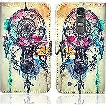 LG Magna / LG G4c Funda, FoneExpert® Wallet Flip Billetera Carcasa Caso Cover Case Funda de Cuero Para LG Magna / LG G4c (Pattern 9)
