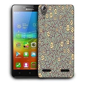 Snoogg Cream Flowers Designer Protective Phone Back Case Cover For Lenovo A6000