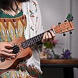 ammoon Clip-On Tuner Gitarre Stimmgerät/Tuner mit großem LCD-Display für Gitarre, Ukulele, C/D Violine, Bass, Geige, Mandoline, Chromatisches Stimmgerät mit Batterie, Automatisch Ausgeschaltet - 4