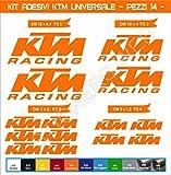 Adesivi stickers KTM UNIVERSALE moto motorbike Cod.0613 (Arancione cod. 035)