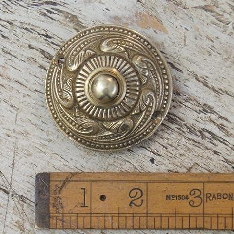 Hardware für Sie Architektonische rund Rokoko Messing Tür Push Glocken (Brass Bell Hardware)