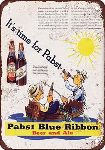 metal Signs 1935Pabst Blue Ribbon Bier und Ale Vintage Look Reproduktion Metall blechschild 20,3x 30,5cm -