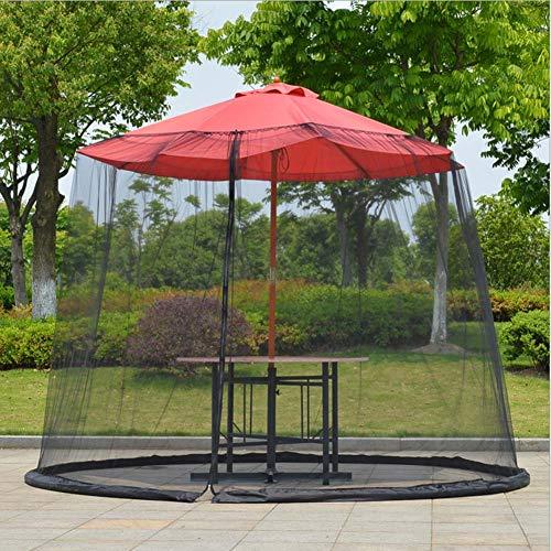 AIMN Outdoor Mosquitera de Malla para sombrilla de jardín al Aire Libre, Material de Poliéster, Incluye 3 Tallas y 2 Colores,Black