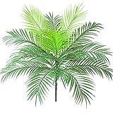 Aisamco Artificiale Tropicale Foglia di Palma Cespuglio Pianta artificiale in verde 1 Pz Plastica Areca Pianta di palma 15 Foglie 63 cm di altezza per vegetazione tropicale Accento floreale