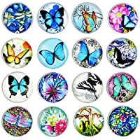 Cosylove 16pcs Refrigerator Magnets,Crystal Glass Fridge Magnets for Office Cabinets, Whiteboards, Photos, Beautiful Decorative Magnets Decorate Home
