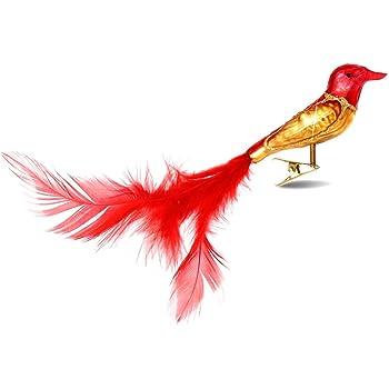 Amazon De Sikora Christbaumschmuck Glas Ornament Clip Vogel Mit