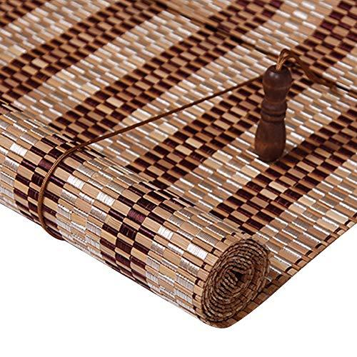 Tende a rullo di bambù, per windows, filtri di luce per tende avvolgibili con valance, tende filtranti per la luce tende per la privacy (dimensioni : 60x90cm)