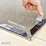 IKOOMEE - Inserti Antiscivolo per tappeti, 8 Pezzi, riutilizzabili, Adesivi per Pavimenti in Legno, Laminato, Marmo e Piastrelle in Ceramica