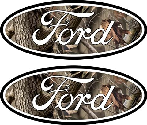 2 Camouflage Ford Emblem Decals Stickers 04-11 Ranger F150 F250 F350 4x4 Camo Sd by Boston Decal Works