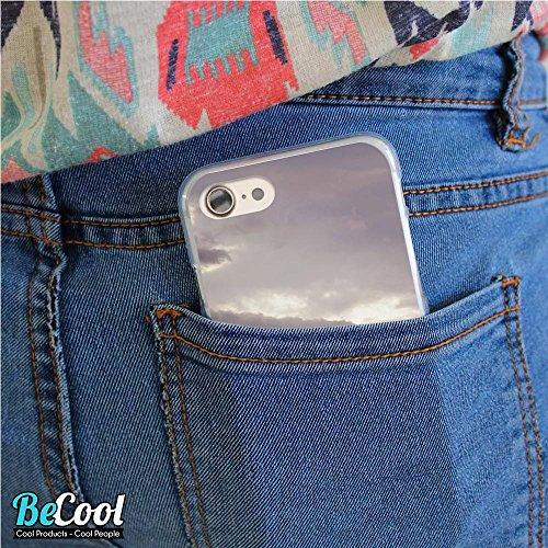 BeCool®- Coque Etui Housse en GEL Flex Silicone TPU Iphone 8, Carcasse TPU fabriquée avec la meilleure Silicone, protège et s'adapte a la perfection a ton Smartphone et avec notre design exclusif. Fro L1233