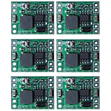 Mini MP1584EN, Sicai Mini MP1584EN DC-DC Buck Converter Adjustable Power Step Down Module 24V to 12V 9V 5V 3V, 6 Pack Power Adapter 24V to 12V 9V 5V 3V Buck Converter