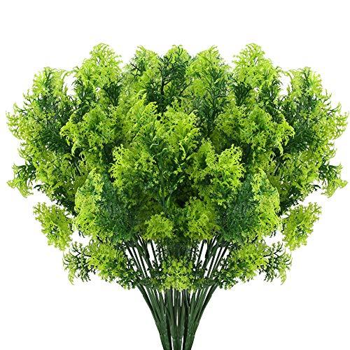 nahuaa 4 pz piante verdi finte da esterno rami cespugli falsi fiori finti erba interni piante artificiali primavera per decorazione terrazzo giardino balcone ufficio soggiorno cucina