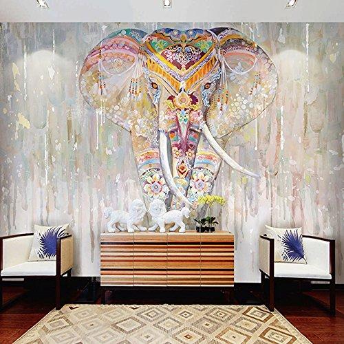 XLi-You 3D-regen Südost Asiatischen Elefanten malen Wohnzimmer Schlafzimmer Wallpaper Tapete Hintergrundbild Tapete 150cmX100cm - Badezimmer Asiatische