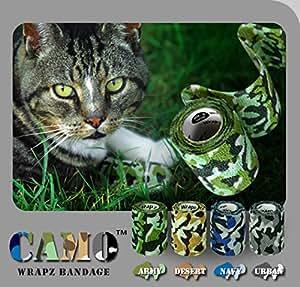Wrapz Camo Lot de 4bandes adhésives de camouflage, 5cm x 5m -