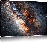 Zentrum der Milchstraße, Format: 120x80 auf Leinwand, XXL riesige Bilder fertig gerahmt mit Keilrahmen, Kunstdruck auf Wandbild mit Rahmen, günstiger als Gemälde oder Ölbild, kein Poster oder Plakat