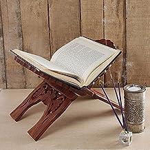 Regali giorno padre, Pieghevole religioso preghiera libro titolare display stare in piedi di legno mani gratuito lettura stare in piedi con intricato intagli - Stand Sacra Famiglia