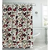 Creative Home Ideen Oxford Weave Strukturierte 13Vorhang für die Dusche mit Metall Roller Haken Sage/Chocolate
