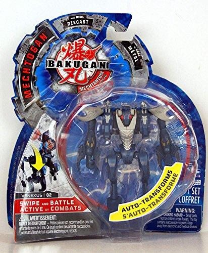 Bakugan - Mechtanium Surge - Swipe and Battle - Mechtogan - with Real Die-Cast - Blue/Grey - Venexus - 02 - Auto Transforms!