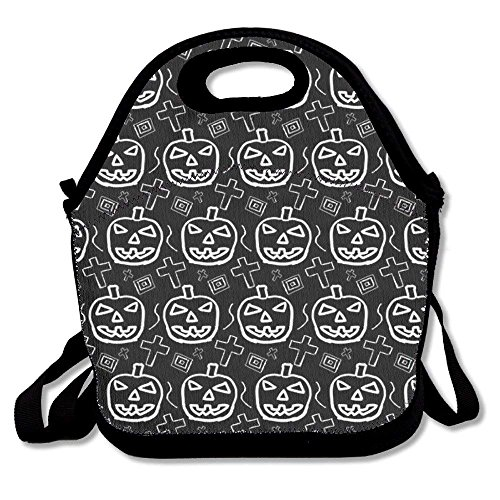(Girls Boys Food Lunch Tote Halloween Pumpkin Pattern Kids Best Picnic School Work Portable Reusable Handbag Bags Boxes Lunchbox Outdoor Totes)