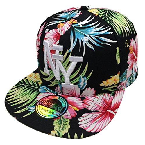 Snapback NY USA Sommer Summer Hawaii Cap Kappe Starter Basecap Mütze Trucker Cappy Kult Unisex Baseball (NY #5) Sommer Trucker Cap