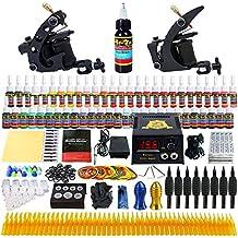 Solong Tattoo equipos del Tatuaje Completo 2 Maquina de Tatuaje 54 Tintas Fuente de Alimentacion Pedal Agujas Grips Consejos TK251