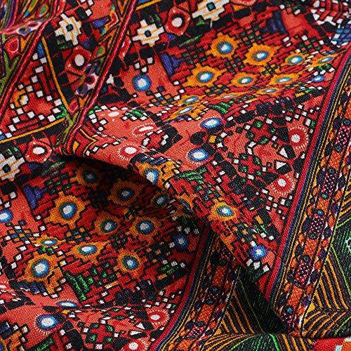 Abrigo De Invierno Mujer Libre Abrigos para Mujer Rebajas Talla Grande Abrigo con Capucha De Manga Larga Vintage Cremallera Señoras Abrigos con Bolsillos Gruesos De Lana riou (5-Red, XXXXL)