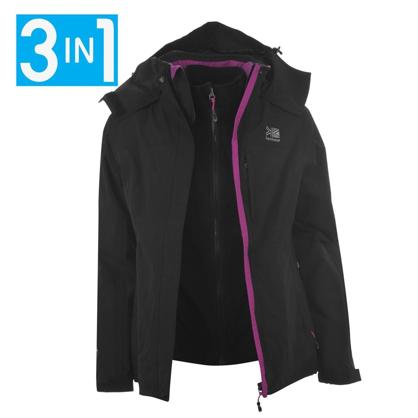 Karrimor Womens 3in1 Jacket Ladies Hooded Fleece Mesh Lining ...