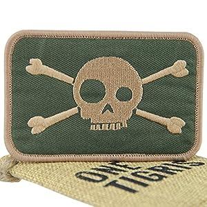 OneTigris Le patch tactique de Velcro L'écusson militaire de crâne pour Airsoft