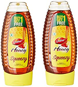 Dabur 100% Pure Honey, 400g Squezee Pack (Rupees 35 Off)