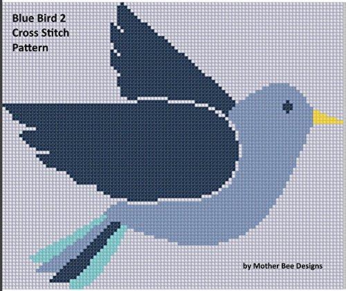 Blue Bird 2 Cross Stitch Pattern   (English Edition) -