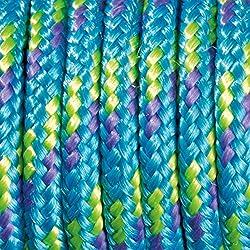 Paracord - Rollo de cordaje (2mm x 5 m), color turquesa, morado y verde claro