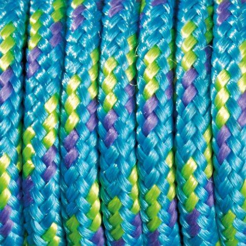 Paracord 2 mm x 50 m de Couleur Mix -, Turquoise, Mauve/Vert Clair