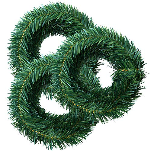 Elcoho 16,5m ghirlande di Natale Pino Verde Pino Artificiale Ghirlanda di Natale...