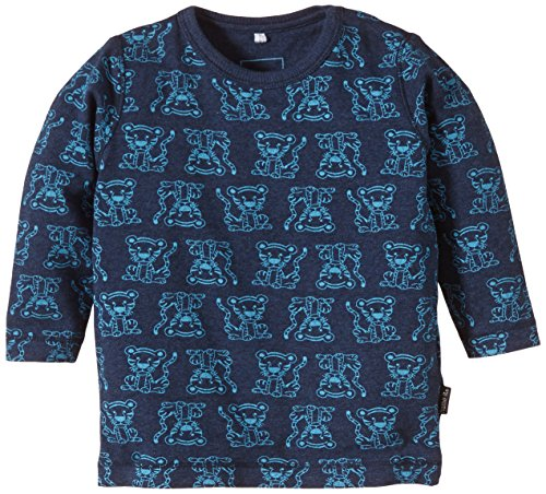 NAME IT Baby - Jungen Poloshirt Ferdinand NB CU LS Top 115, All over print Mehrfarbig (Dress Blues)