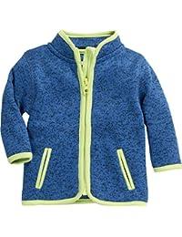 Schnizler Unisex Baby Strickfleece-Jacke mit Kontrastnähten, Oeko-Tex Standard 100