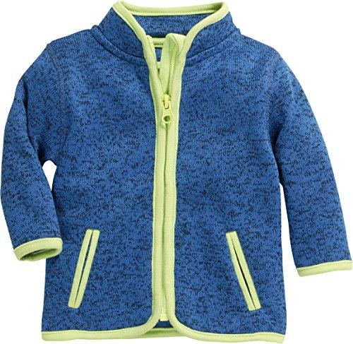 Schnizler Unisex Baby Strickfleece-Jacke mit Kontrastnähten, Oeko-Tex Standard 100, Blau (Blau 7), 68