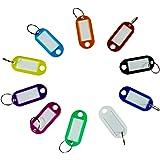 Dokpav 40 stuks sleutelhangers om te beschrijven, kunststof sleutelborden met ring verwisselbare etiketten