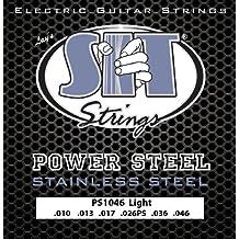 SIT PS1046 - Juego de cuerdas para guitarra eléctrica de acero inoxidable, 10-46