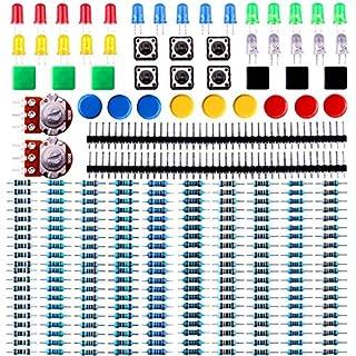 Elegoo Elektronik Komponente Pack mit Widerstand, LED, Druckschalter, Potentiometer